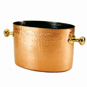 Old Dutch International Two Bottle Copper Beverage Chiller with Stainless Steel Insert, 7-Quart