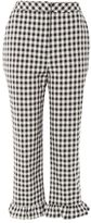 Topshop Gingham frill hem trousers