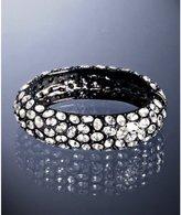 gunmetal crystal encrusted hinge bangle