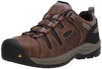 Keen Men's Flint II Low Steel Toe Waterproof Non Slip Work Shoe Construction