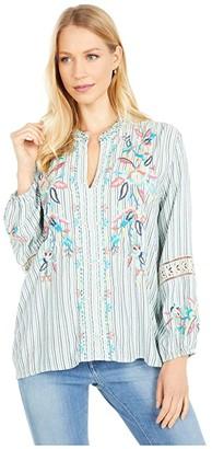 Johnny Was Lais Paris Effortless Blouse (Stripe) Women's Clothing