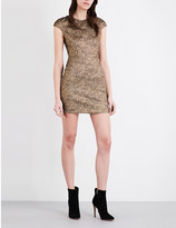 Diane von Furstenberg Hadlie Two metallic-jacquard mini dress