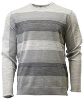 Calvin Klein Men's Merino Ribbed Stripe Crew Neck Sweater