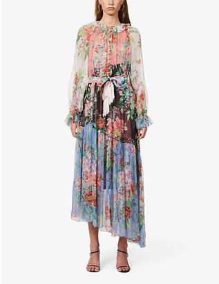 Zimmermann Floral-print silk-crepe maxi dress