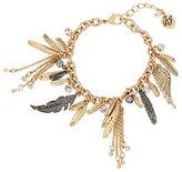 Betsey Johnson Studded Feather Bracelet