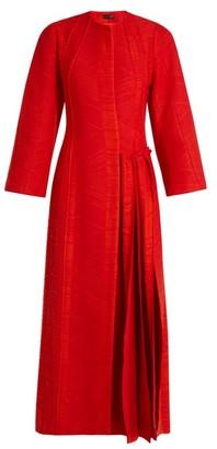 Carl Kapp - Flame Pleated-side Coat - Red