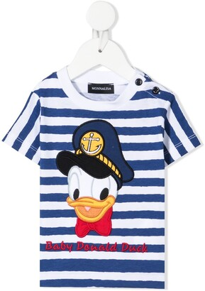 MonnaLisa Donald Duck embroidered t-shirt