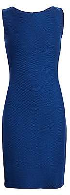 St. John Women's Gridded Texture Knit Dress