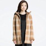 Uniqlo Women Printed Fluffy Long Sleeve Fleece Coat