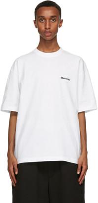Balenciaga White BB Medium Fit T-Shirt