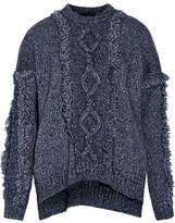 blue marled sweater - ShopStyle