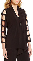 IC Collection One-Button Front Cut-Out Sleeve Asymmetrical Jacket