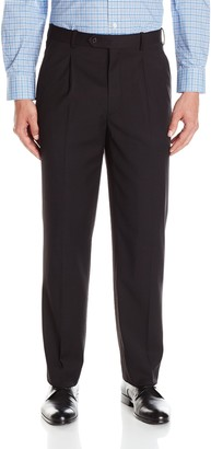 Adolfo Men's Portly Flat Front Micro Tech Suit Pant