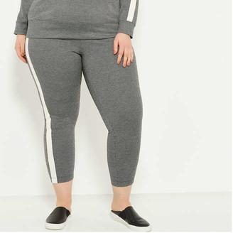 Joe Fresh Women+ Side Stripe Texture Leggings, Black (Size 3X)