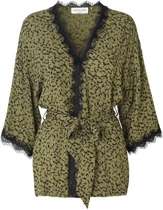 Rosemunde 4734 Jacket In Blossom Print Green - 40