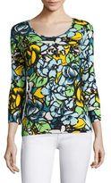 Escada Cotton Floral-Print Pullover