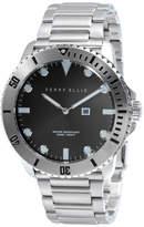 Perry Ellis Unisex Deep Diver Black Stainless Steel Watch
