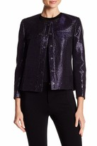 Anne Klein Jacquard Print Front Button Jacket