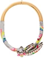 Shourouk Aigrette Sequin Necklace