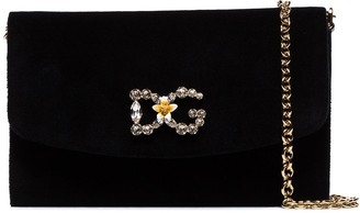 Dolce & Gabbana Crystal Logo Crossbody Bag