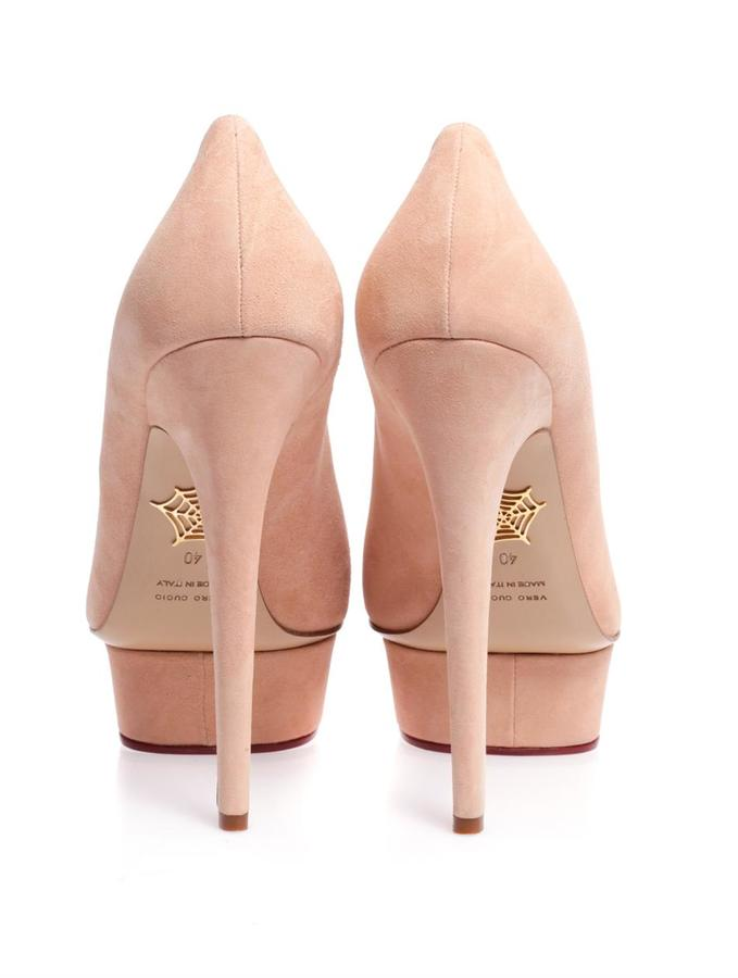 Charlotte Olympia Dolly suede pumps