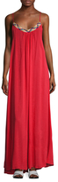 Red Carter Braided Neck Long Dress