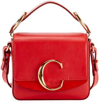 Chloé C Mini Shiny Leather Shoulder Bag