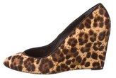 Brian Atwood Ponyhair Leopard Print Wedges