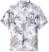 Cubavera Men's Big and Tall Short Sleeve All Over Tropical Print Woven Shirt