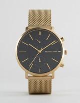 Michael Kors Jaryn Mesh Watch In Gold Mk8503