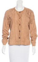 Tory Burch Suede Fringe Jacket