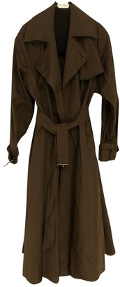 Max Mara Khaki Cotton Trench Coat for Women