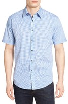 James Campbell Men's Langdon Print Sport Shirt
