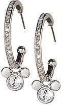 Disney Mickey Mouse Icon Hoop Earrings by Arribas