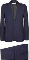 Saint Laurent - Navy Slim-fit Virgin Wool-gabardine Suit