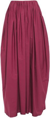 Brunello Cucinelli Pleated Cotton-poplin Maxi Skirt