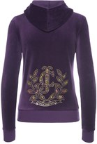 Juicy Couture Logo Velour Jc Laurel Robertson Jacket