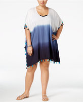 Raviya Plus Size Ombre Tunic Cover-Up Women's Swimsuit