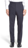 JB Britches Flat Front Check Wool Trouser