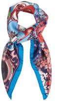 Etro Astronomy-print silk scarf