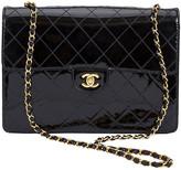 One Kings Lane Vintage 1990s Chanel Jumbo Flap Bag - Vintage Lux - black/gold