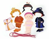 BabyCenter Hess Wooden Toddler Toy Threading Puppet Girls