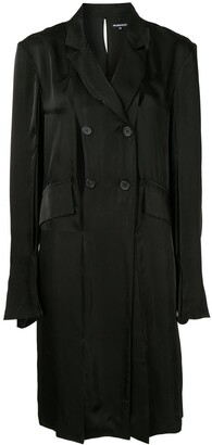Ann Demeulemeester Cut-Detail Double Breasted Coat