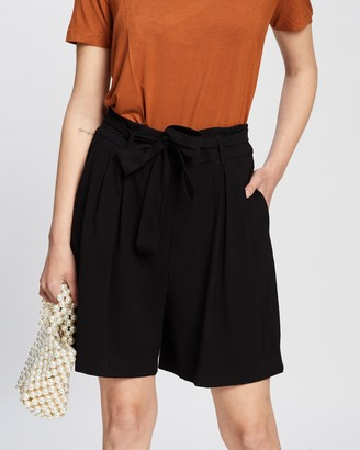Mng Women's Black High-Waisted - Mar Shorts - Size 32 at The Iconic