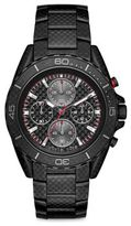 Michael Kors Jetmaster Black Carbon Fiber & Blackened Stainless Steel Chronograph Bracelet Watch