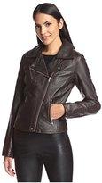 Bagatelle Women's Pebbled Faux Leather Moto Jacket