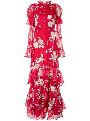 Erdem floral print evening dress