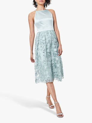 Oasis Satin Bodice Lace Midi Bridesmaid Dress
