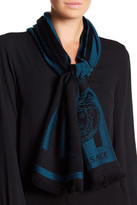 Versace Double Middle Stripe Wool Scarf
