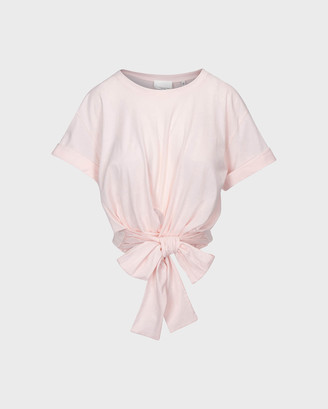 7 For All Mankind Twist Tee in Pink